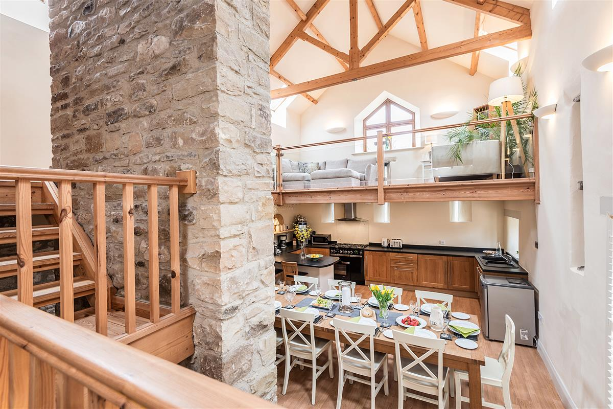 Broadmea Barn Kitchen/Dining Gallery 1 above