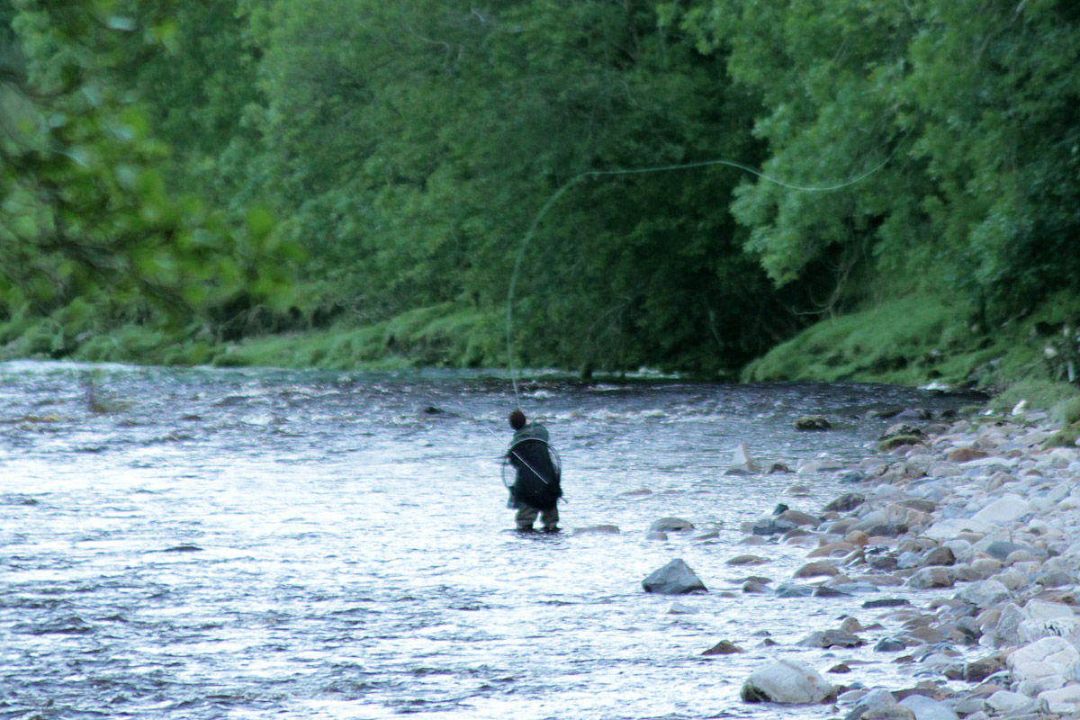 Fishing on the South Tyne