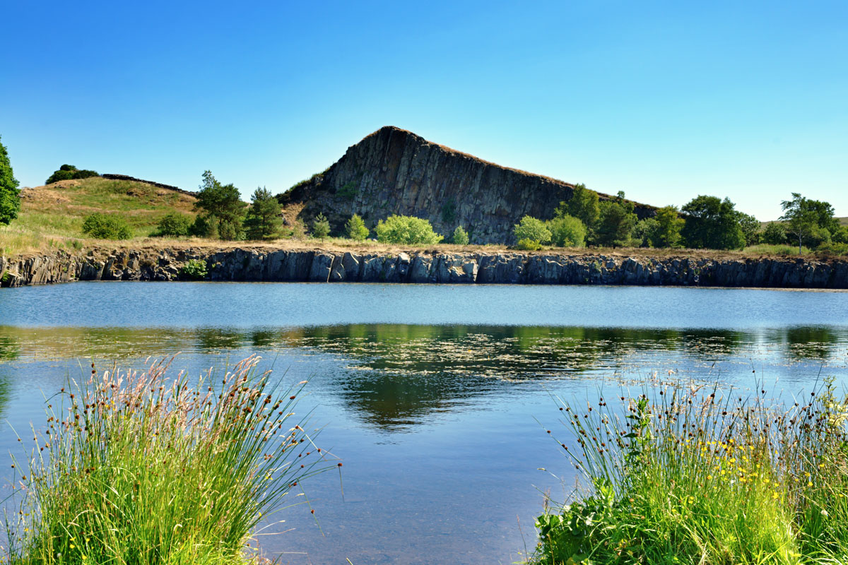 Cawfield Quarry by Hadrians Wall